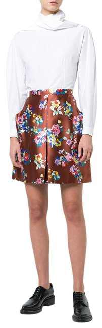 Item - Brown A-line Floral Print Skirt Size 6 (S, 28)