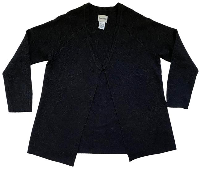 Item - Black and Silver Sweater Cardigan Size 8 (M)