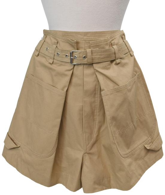 Item - Tan High-rise Pleated Shorts Size 4 (S, 27)