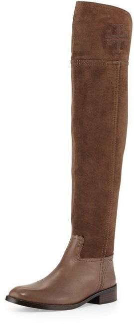 Item - Brown Simone Suede Over The Knee Boots/Booties Size US 9 Regular (M, B)