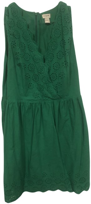 Item - Green #l6950 Mid-length Short Casual Dress Size 8 (M)