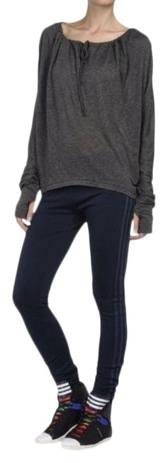 Item - Blue Adidas Lux Track Stripe Logo Embroidered Leggings Size 6 (S, 28)