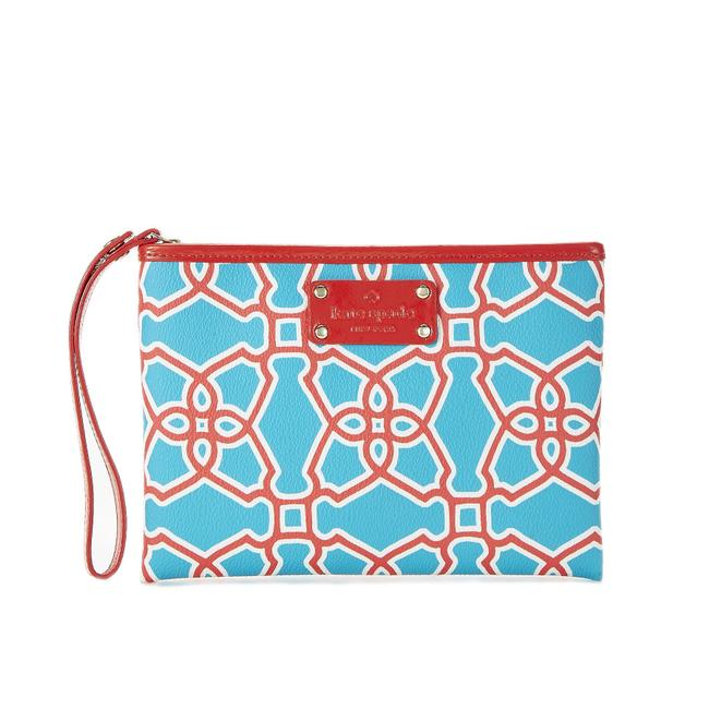 Item - Moroccan Market Turquoise Red & White Leather Wristlet