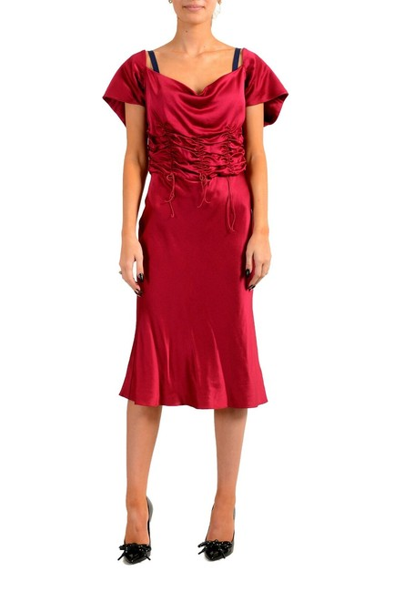 Item - Bright Red Women's Shift Mid-length Short Casual Dress Size 12 (L)