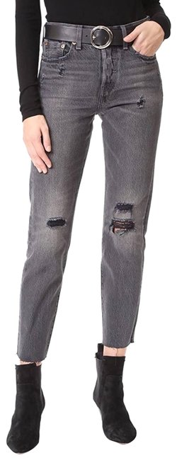 Item - Gray Wedgie Icon Tumble Distressed Skinny Jeans Size 26 (2, XS)