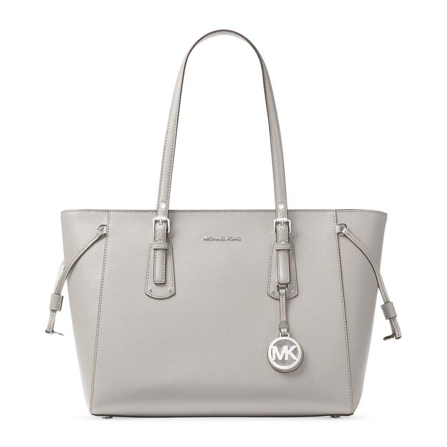 Item - Carryall Voyager Multi Function Grey Leather Tote