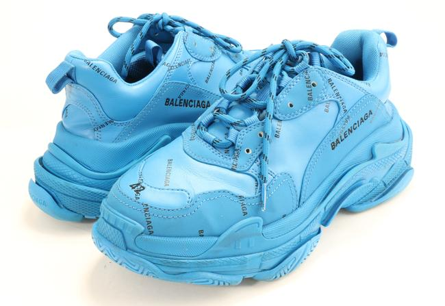 Item - Blue Allover Logo Triple S Sneakers Shoes