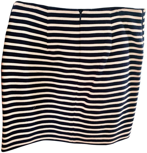 Item - Navy and Cream Striped Skirt Size 8 (M, 29, 30)