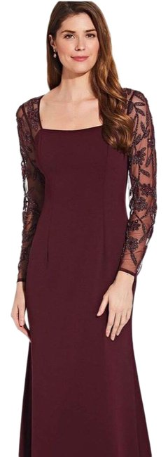 Item - Ap1e206039 Beaded Sleeve Long Night Out Dress Size 8 (M)