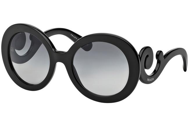 Item - Black Spr 27n 1ab-3m1 55mm Baroque Round Swirl Sunglasses