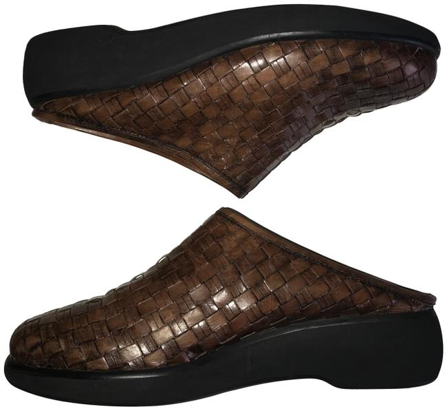 Item - Brown Country Woven Leather Mules/Slides Size US 9 Regular (M, B)