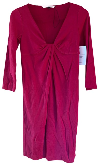 Item - Red Wool Elena Mid-length Work/Office Dress Size 6 (S)