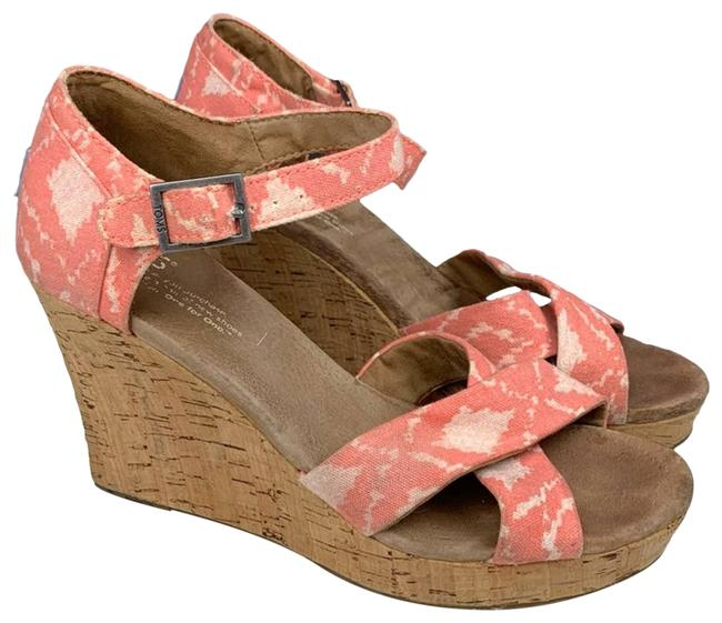 Item - Pink Sandals Coral Spring Wedges Size US 7.5 Regular (M, B)