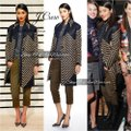 J.Crew Navy Tan Collection French Tweed Geometric Coat Size 6 (S) J.Crew Navy Tan Collection French Tweed Geometric Coat Size 6 (S) Image 2
