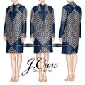 J.Crew Navy Tan Collection French Tweed Geometric Coat Size 6 (S) J.Crew Navy Tan Collection French Tweed Geometric Coat Size 6 (S) Image 4