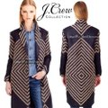J.Crew Navy Tan Collection French Tweed Geometric Coat Size 6 (S) J.Crew Navy Tan Collection French Tweed Geometric Coat Size 6 (S) Image 6