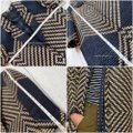 J.Crew Navy Tan Collection French Tweed Geometric Coat Size 6 (S) J.Crew Navy Tan Collection French Tweed Geometric Coat Size 6 (S) Image 8