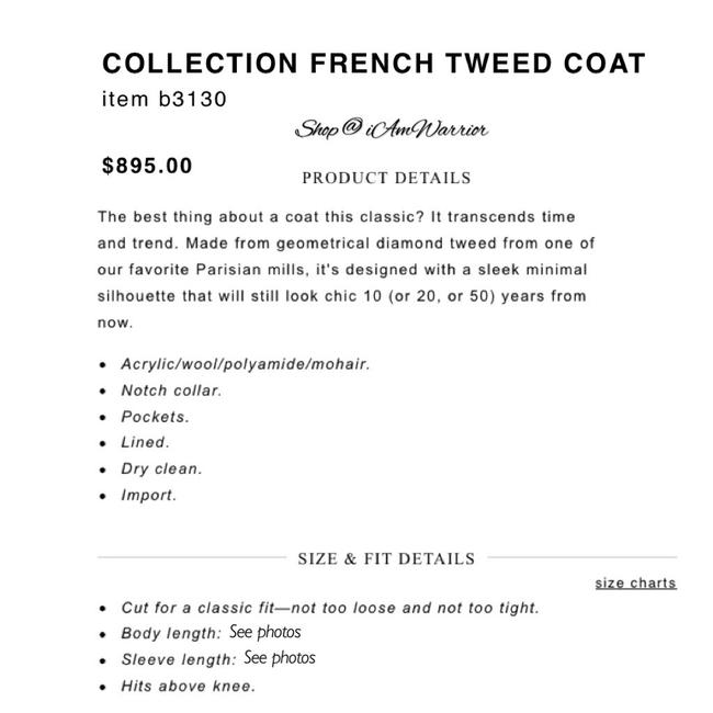 J.Crew Navy Tan Collection French Tweed Geometric Coat Size 6 (S) J.Crew Navy Tan Collection French Tweed Geometric Coat Size 6 (S) Image 10