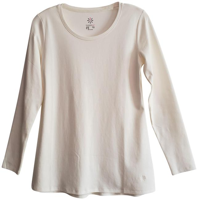 Item - New Essentials Pima Cotton Scoop Neckline Longer Length Straight Front Rounded Back Tee Shirt Size 00 (XXS)