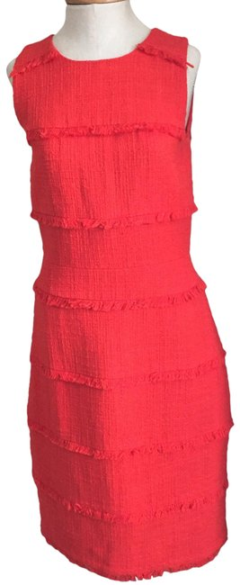 Item - Red Mid-length Work/Office Dress Size 6 (S)