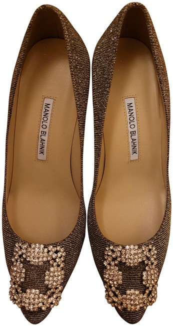 Item - Gold and Silver Hangisi Pumps Size US 9 Regular (M, B)