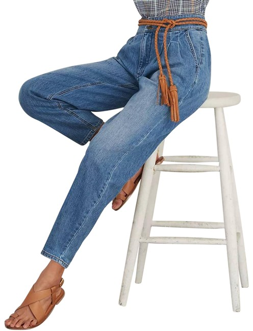 Item - Blue Pilcro Tapered High Rise Trouser/Wide Leg Jeans Size 27 (4, S)