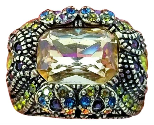 Item - Gold Victorian Rhinestone Crystal Ring