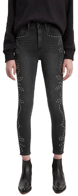 Item - Gray Mile High Super Studded Skinny Jeans Size 25 (2, XS)
