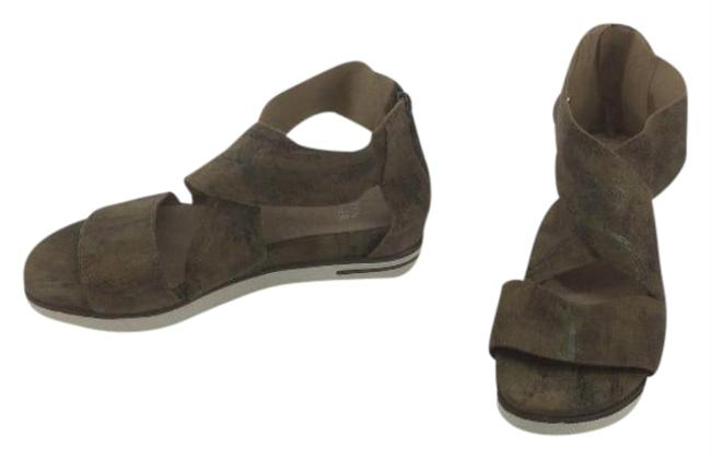Item - Green Sport Platform Sandals Size US 6.5 Regular (M, B)