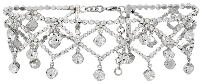 Item - Silver Silver-tone Crystal Choker Necklace