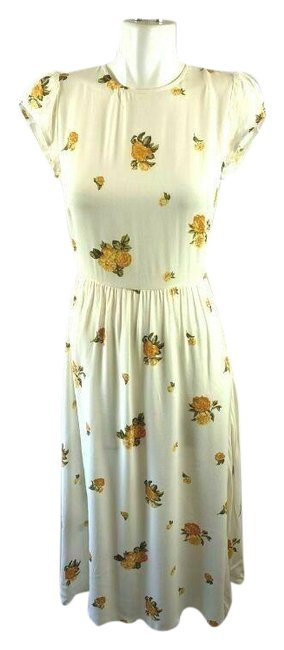 Item - Yellow Rylie Midi Rare Constance Floral Print Fit Sa Mid-length Casual Maxi Dress Size 4 (S)