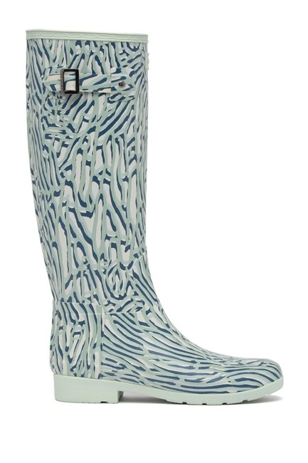 Item - Teal (New) Refined Tall Coral Print Waterproof Boots/Booties Size US 7 Regular (M, B)
