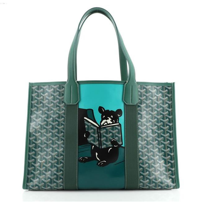 Item - Villette Printed Green Coated Canvas Tote