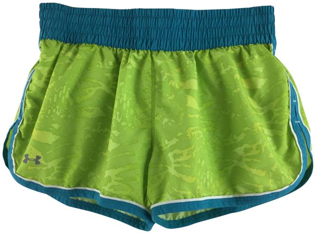 Under Armour Green Heat Gear Workout Shorts Size 6 (S, 28) Under Armour Green Heat Gear Workout Shorts Size 6 (S, 28) Image 1