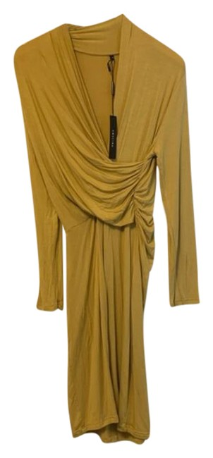Item - Yellow Gold Crossover Mid-length Work/Office Dress Size 8 (M)