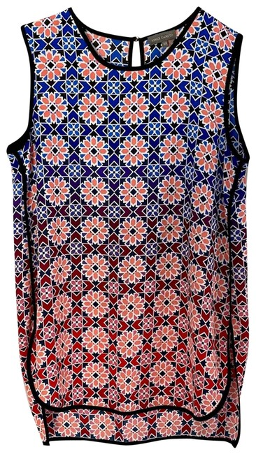 Item - Blue Ombre XS Floral Sleeveless Tank Blouse Size 2 (XS)