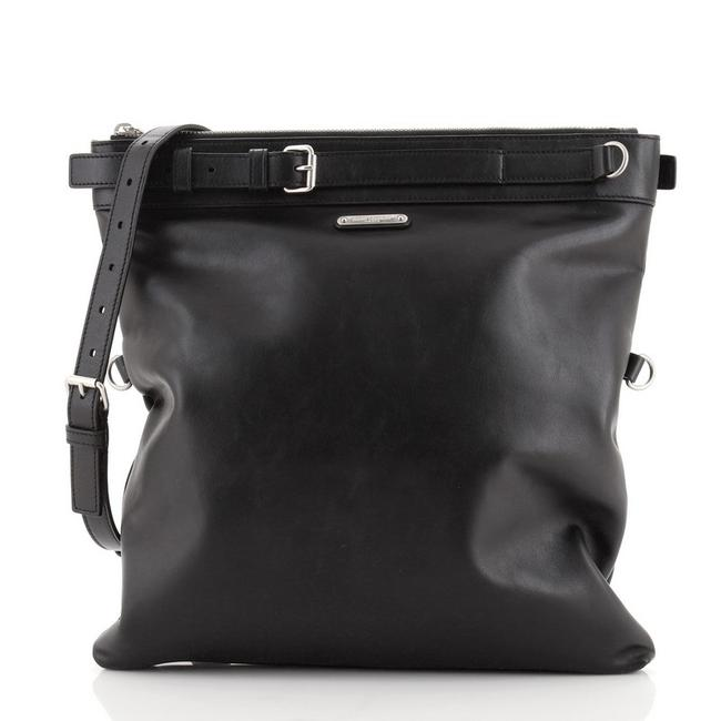 Item - Belted Medium Black Leather Messenger Bag