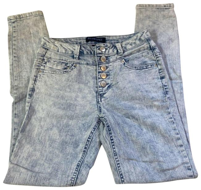 Item - Acid Wash Full Button Fly Skinny Jeans Size 26 (2, XS)