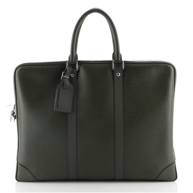 Item - Porte-Documents Voyage Briefcase Epi Green Leather Tote