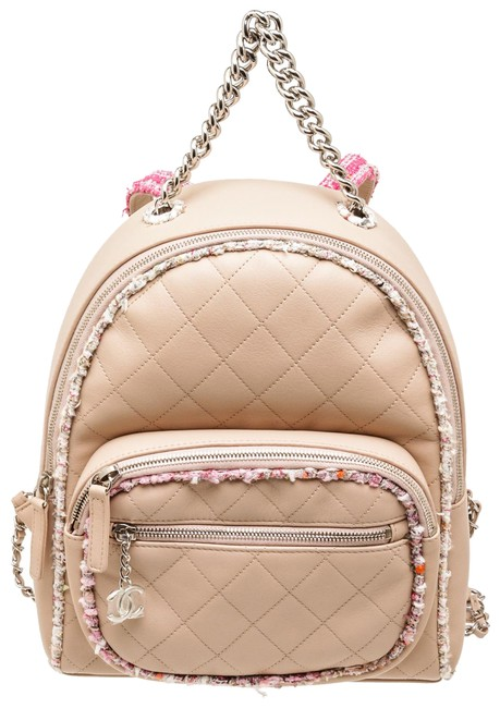 Item - Limited Edition 503980 Beige & Tweed Lambskin Leather Backpack