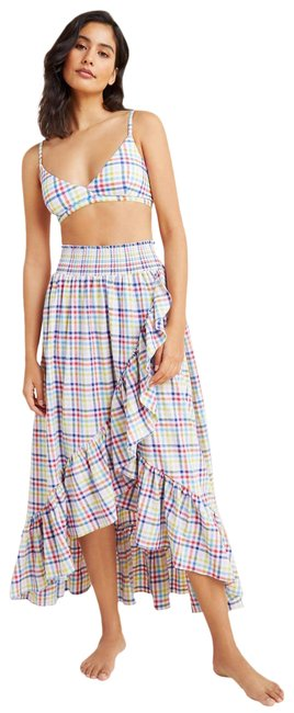 Item - Multicolor New Delila Smocked Ruffled Assymmetrical Maxi Skirt Cover-up/Sarong Size 6 (S)