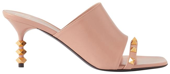 Item - Neutral Garavani Rockstud Tower Hill 70 Cutout Leather Mules/Slides Size EU 36.5 (Approx. US 6.5) Regular (M, B)