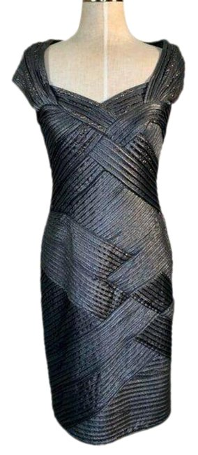 Item - Pewter Mid-length Night Out Dress Size 12 (L)