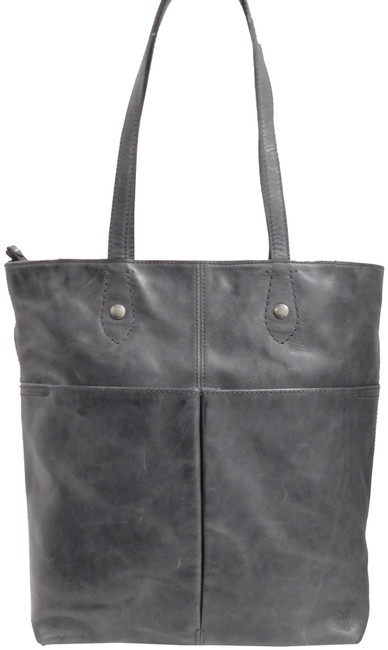 Item - Distressed Tote Gray Leather Laptop Bag
