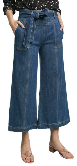 Item - Pilcro and The Letterpress Blue Ultra High Rise Trouser/Wide Leg Jeans Size 29 (6, M)