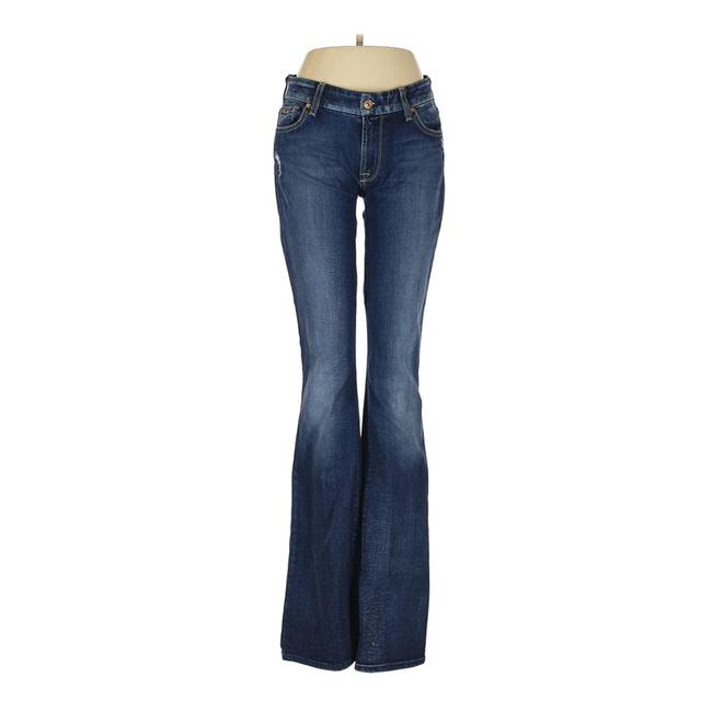 Item - Blue Distressed Kimmie Boot Cut Jeans Size 28 (4, S)