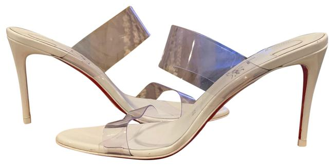 Item - White / Clear Just Nothing Pvc Patent Leather Mules/Slides Size US 6.5 Regular (M, B)