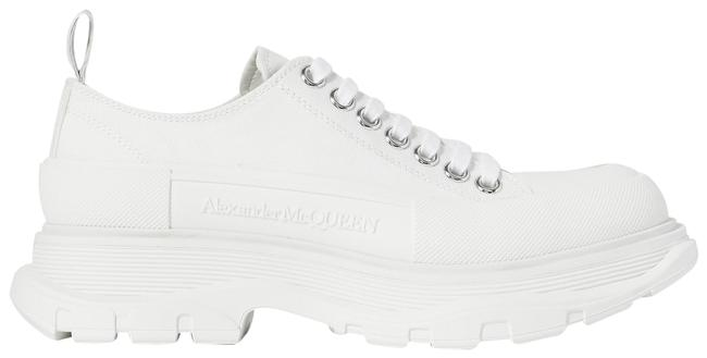 Item - White Canvas Exaggerated-sole Sneakers Size EU 39.5 (Approx. US 9.5) Regular (M, B)