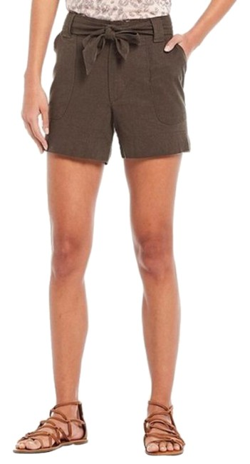 Item - Brown Linen Belted Shorts Size 10 (M, 31)