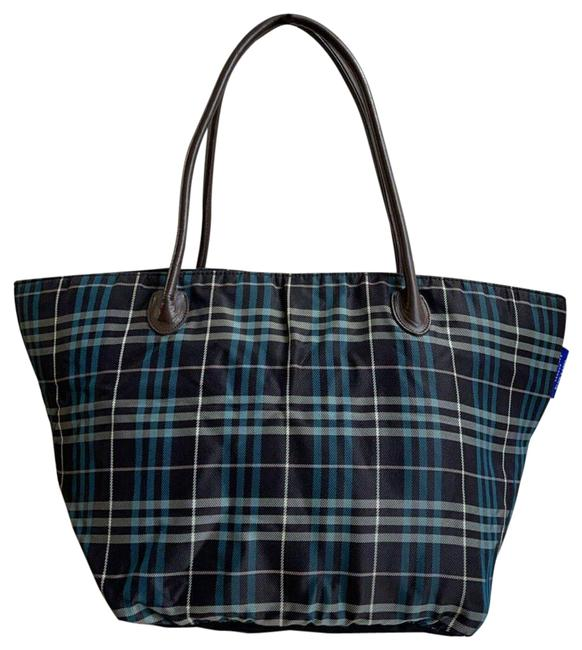 Item - Bag Nova Check Dark (Multicolor) Canvas & Leather Tote